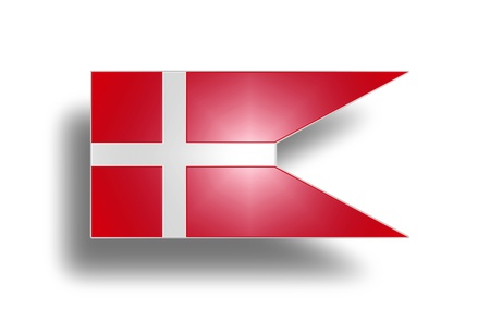 danmark: State and war flag and state ensign of Denmark  stylized I
