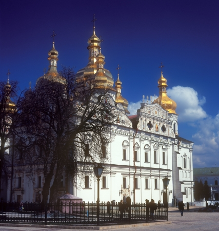 Fragment of Uspensky Cathedral in Kiev-Pechersk Lavra, the famous ancient orthodox monastery  Kyiv, Ukraine  photo