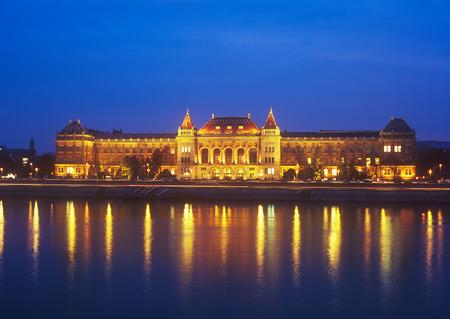 Budapest University of Technology and Economics at night