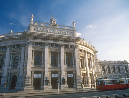 innere: The Hofburgtheater Imperial Court Theater in Vienna, Austria  Editorial