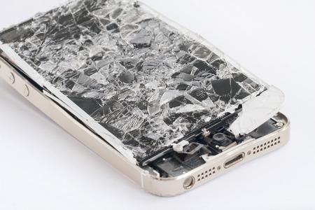 깨진 화면 스크린 휴대 전화를 터치