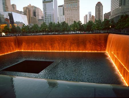 9 11: New York City, USA - June 24, 2014  9 11 Memorial at Ground Zero, Lower Manhattan, commemorating the terrorist attack of September 11, 2001