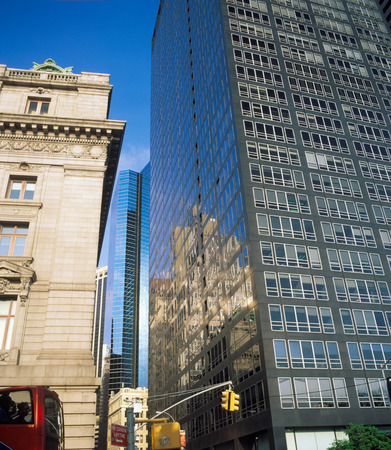 New York City architecture - old and new. Buildings of Manhattan. Stock Photo