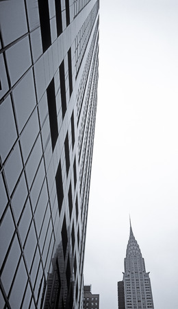 New York City - looking up. Chrysler Building.