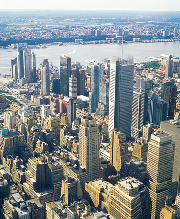 Aerial view of New York City from the Empire State Building.