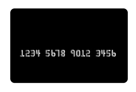 Black bank card on white background. Useful in your projects - please insert your image. Banco de Imagens
