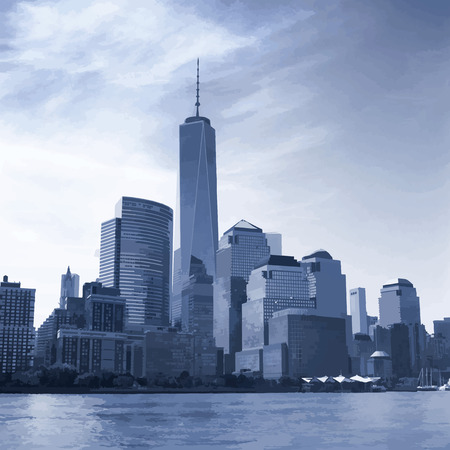 The Manhattan Island. View from the Hudson River.