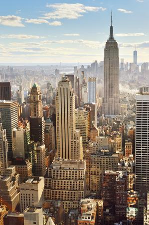 뉴욕시의 공중보기.