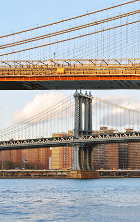 fragments: Fragments of two bridges of the New York City.
