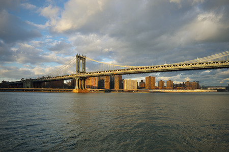 manhattan bridge: Manhattan Bridge at sunny day.