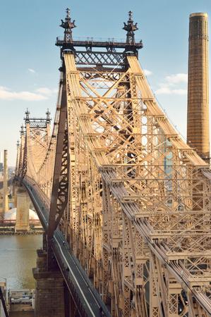 queensboro bridge: View of the Queensboro Bridge in New York City. Stock Photo