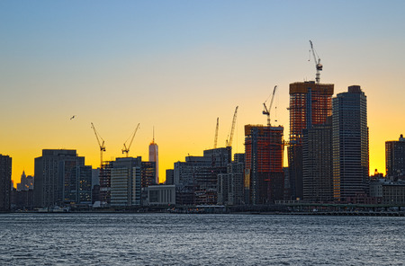 new beginnings: New beginnings in the Downtown Manhattan, New York City. Stock Photo