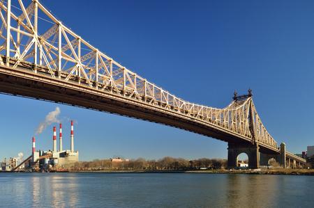 queensboro bridge: Queensboro Bridge and Ravenswood Generating Station. View from the Roosevelt Island.