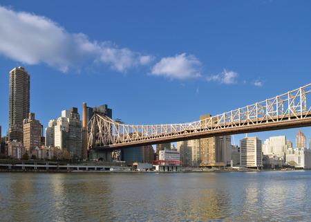 queensboro bridge: View of the Queensboro Bridge from the Roosevelt Island.