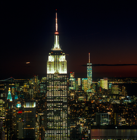 A night view of the New York City. Editorial