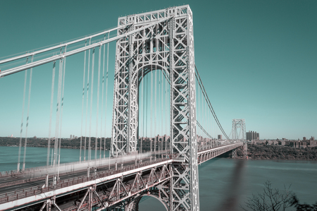 George Washington Bridge taken with long exposure.