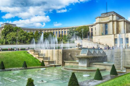 Jardins du Trocadero and Palais de Chaillot in Paris. Sajtókép