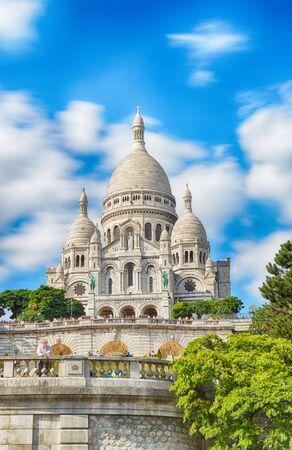 Basilica of Sacre-Coeur in Montmartre, Paris, France - HDR view. Sajtókép