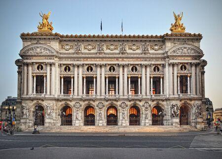 Front view of the Opera Garnier in Paris.