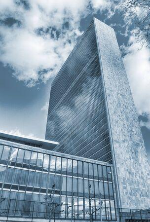 New York City - looking up. United Nations Building. Sajtókép