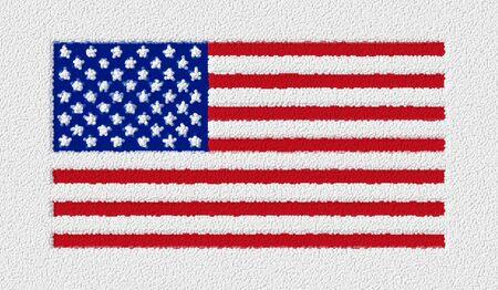Flag of the United States carpet. Stockfoto