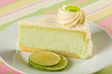Key Lime Cheesecake Stock Photo