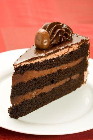 Three layer chocolate cake photo