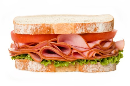 Ham Sandwich with lettuce and tomato Stock fotó