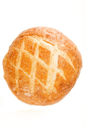crosshatch: A crusty round italian loaf with great texture and tremendous sheen Stock Photo