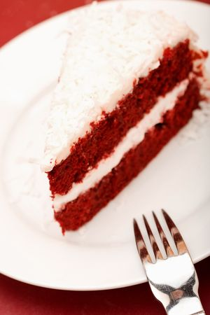 Red Velvet Cake with cream cheese coconut icing