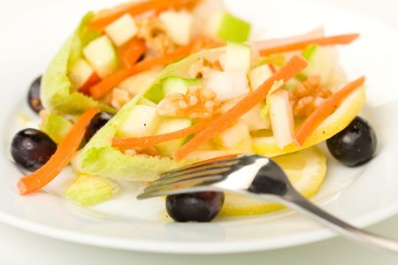 endive: Endive Salad with Apple, Carrot, and Walnut