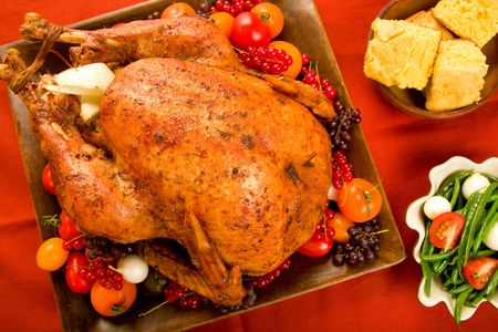 Roast Turkey stuffed with flavorful vegetables. Stock Photo - 5345086