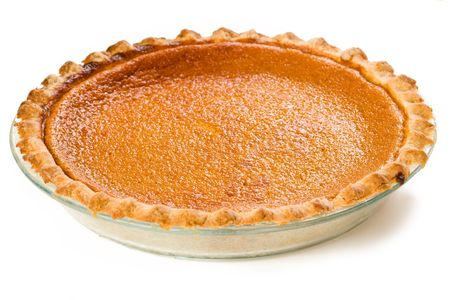 Sweet Potato Pie isolated on white Фото со стока