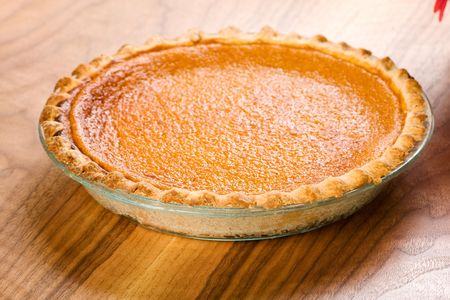 sweet pastries: Whole Sweet Potato Pie Stock Photo