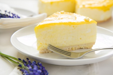 curd: Lemon Mousse topped with a fresh and tangy lemon curd