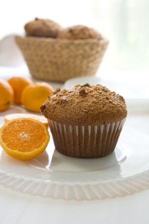 pecan: Cranberry Orange pecan muffins with mandarin oranges