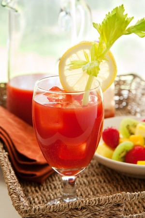 Bloody mary with fruit photo