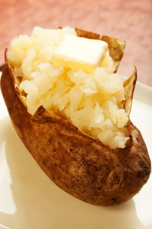 russet potato: Baked potatow with pat of butter