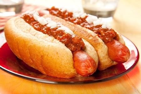 perro caliente: Perfecto para la caza mayor, un picnic o en cualquier momento perros chili con cebollas