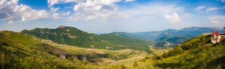 Panoramic view of beautiful green valley in Iran