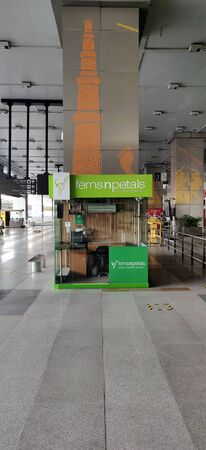 A cute abandoned shop of ferns and petals because of corona virus pandemic at Terminal 3, Indira Gandhi International Airport in Delhi