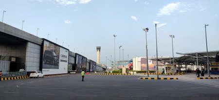 Almost empty International airport of Delhi in June 2020 amidst corona virus pandemic at Indira Gandhi International Airport in Delhi, India