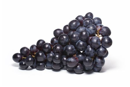 Uva (cluster of grapes) isolated on white background