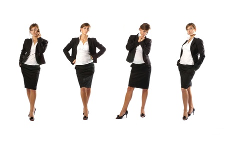 business woman legs: Young attractive businesswoman