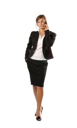 Young attractive businesswoman photo