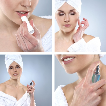 helthcare: Beautiful spa collage made of many elements