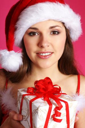 sexy santa: Young sexy Santa Stock Photo