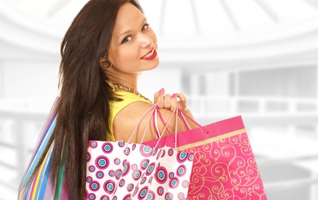 shopper: Attractive female shopper