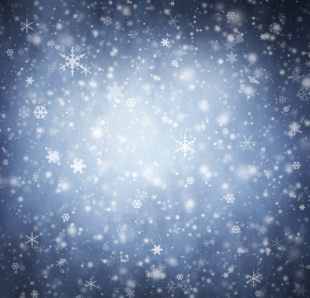 Abstract Christmas background. Smoke and a snowflakes. photo
