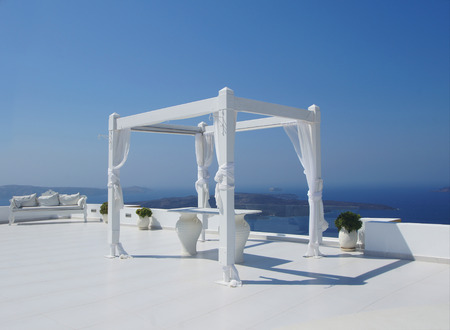 santorini island: Beautiful wedding tent on Santorini island